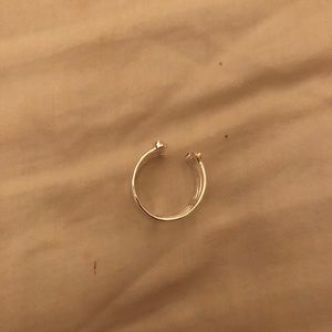 Stella and Dot Silver Connected Ring Size 9